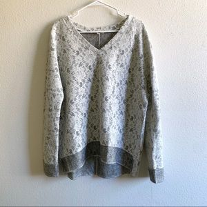 Kut from the Kloth lace knit sweater